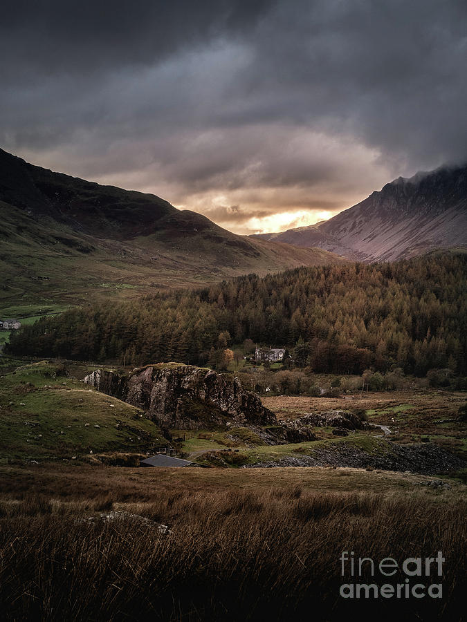 Mountain Sunset In The National Park, Wales, Uk Photograph
