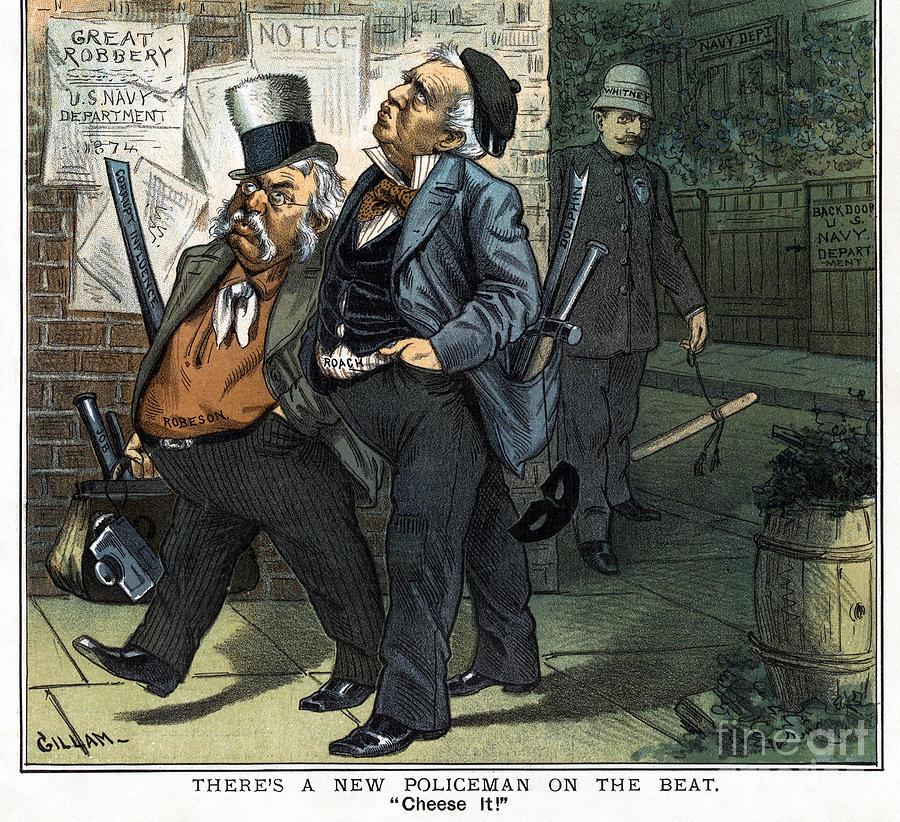 Navy Reform Cartoon, 1885 by Bernhard Gillam
