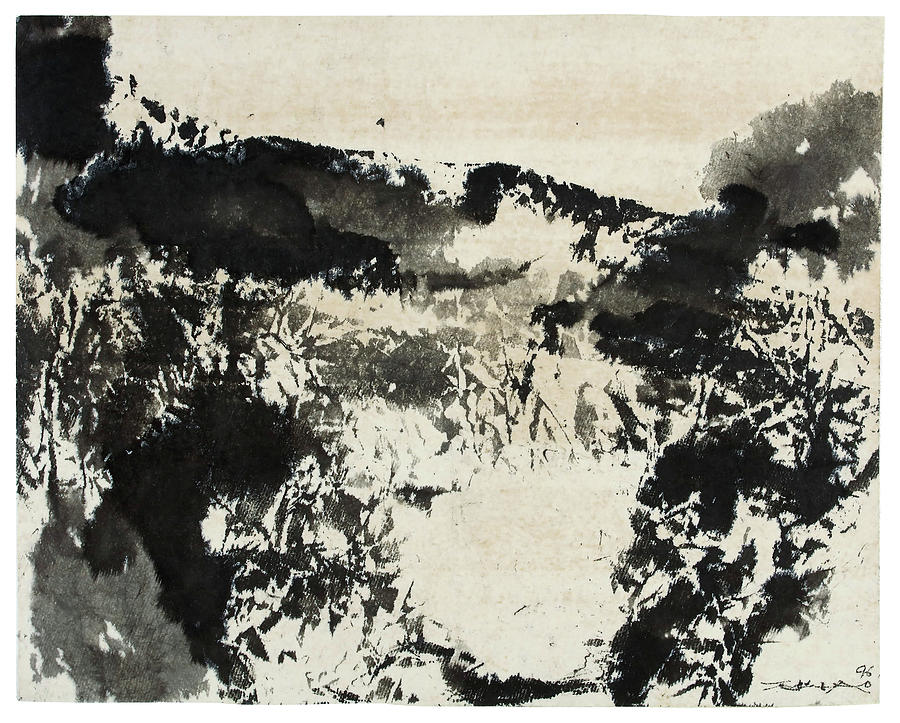Zhao Painting - No Title In       by Zhao Wu Ji