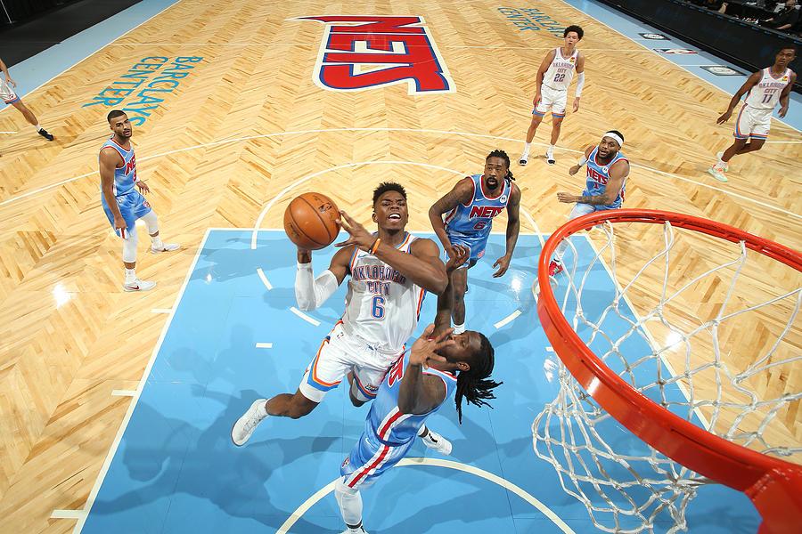 Oklahoma City Thunder v Brooklyn Nets Photograph by Nathaniel S. Butler