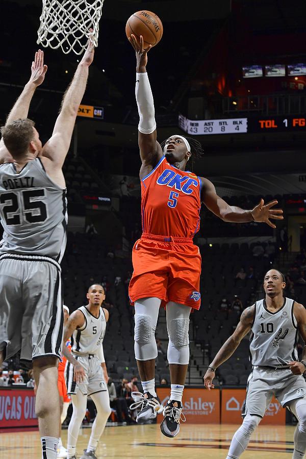 Oklahoma City Thunder vs. San Antonio Spurs Photograph by Logan Riely