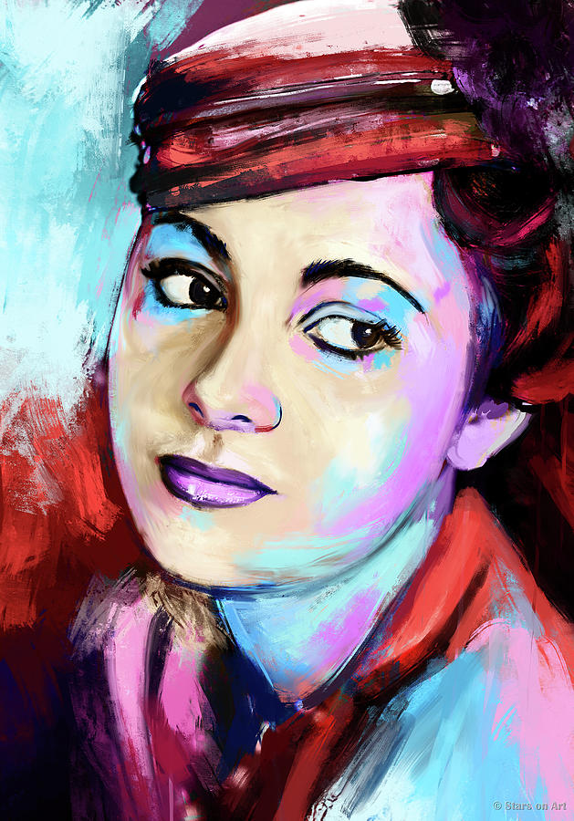 Olivia De Havilland Painting