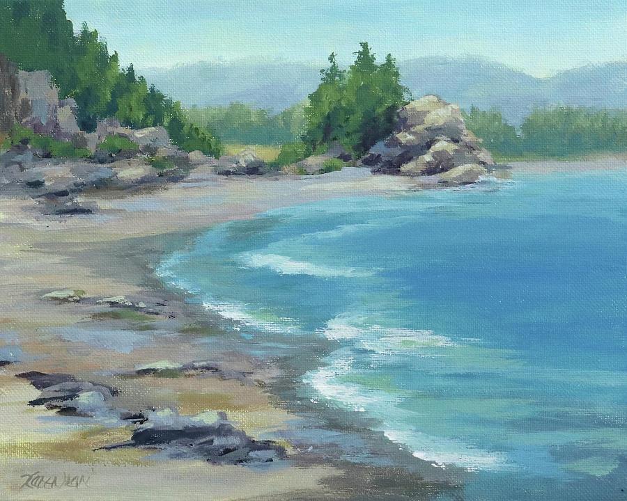 Seascape Painting - On the Coast by Karen Ilari