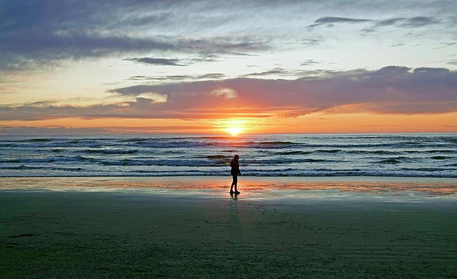 Oregon Coast Sunset Photograph