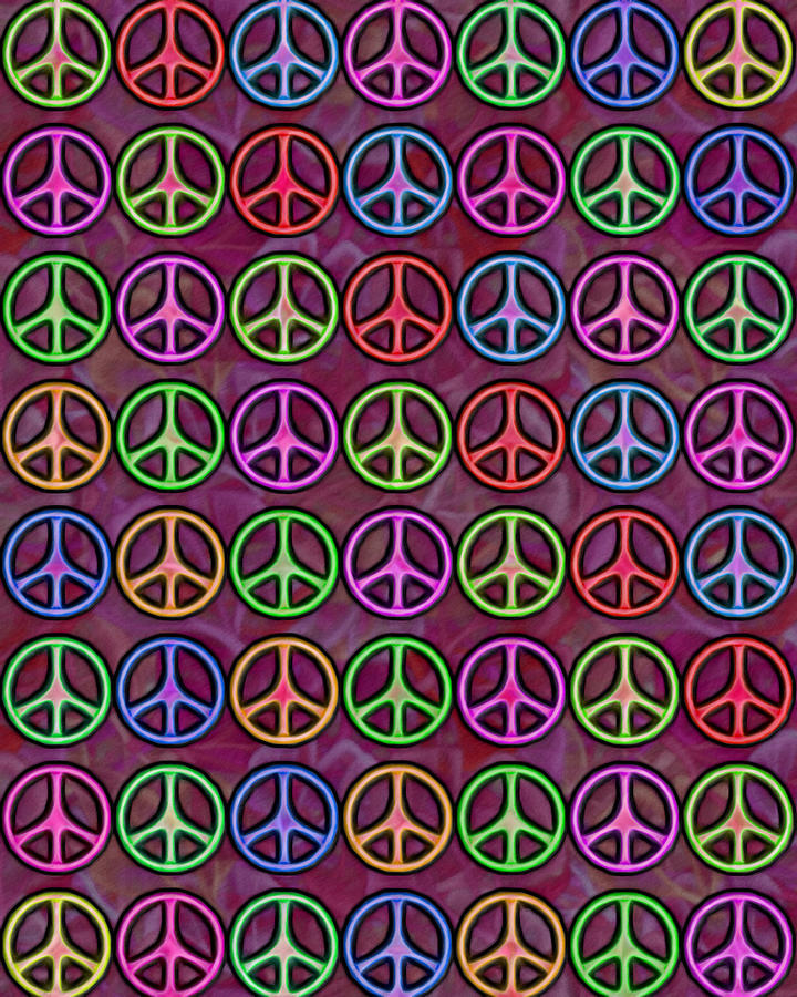 Peace Signs Collage Digital Art