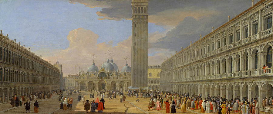 Piazza San Marco, Venice by Luca Carlevaris
