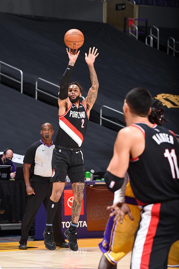 Portland Trail Blazers v LA Lakers Photograph by Adam Pantozzi