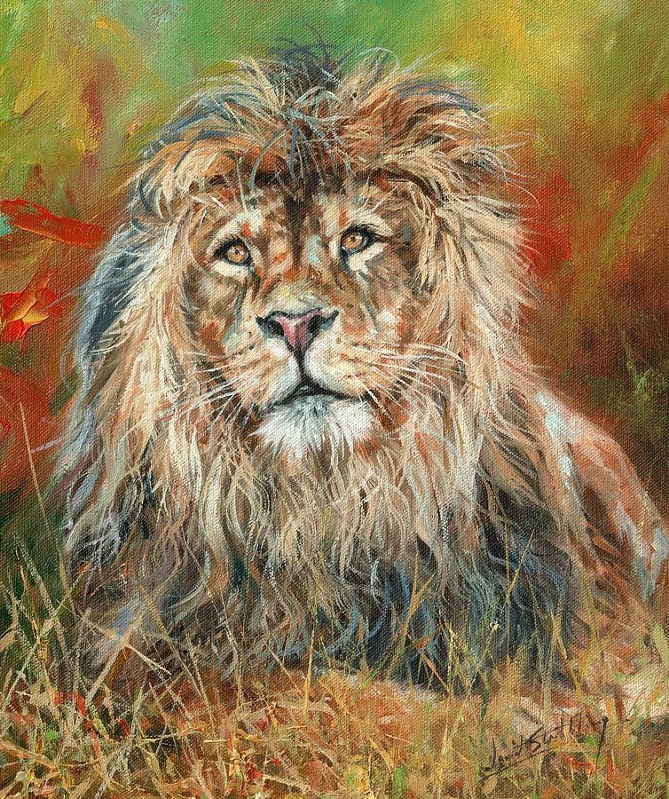 Portrait Of A Lion Painting