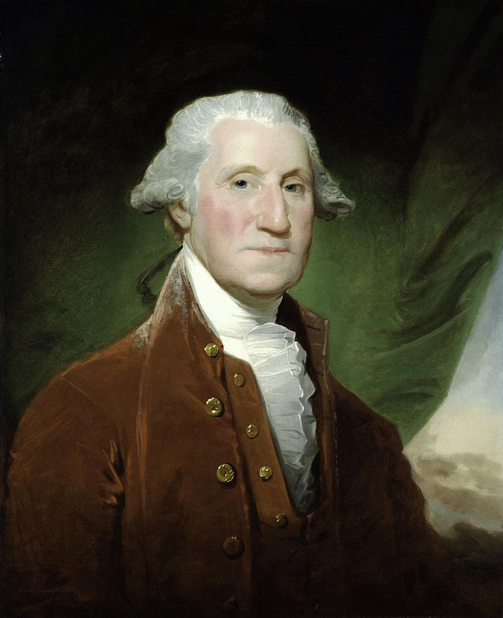 George Washington Painting - President George Washington  by War Is Hell Store