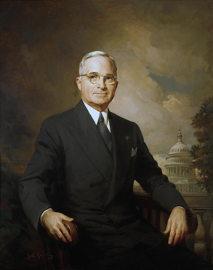 Harry Truman Painting - President Harry Truman by War Is Hell Store