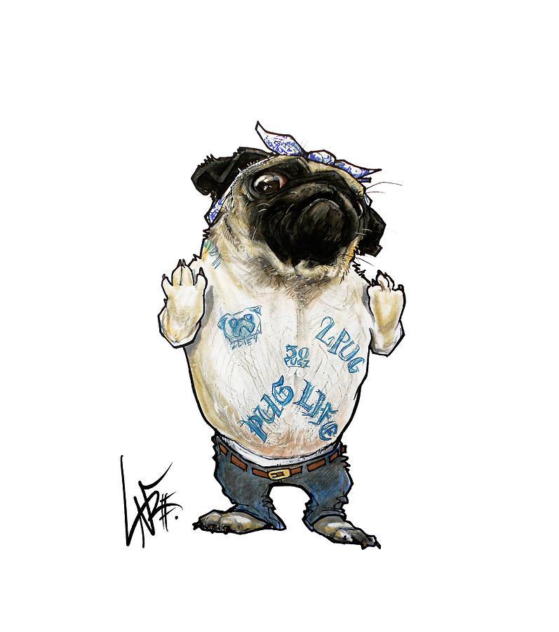 Pug Life Drawing