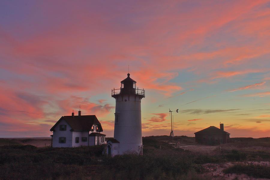Race Point Lighthouse Sunset Photograph