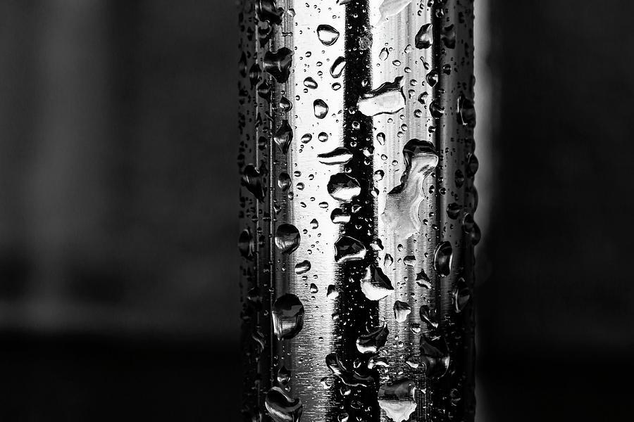 Raindrops On Metal Photograph