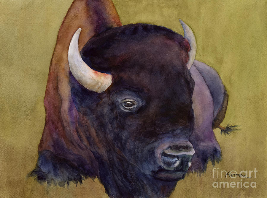 Resting Bison 2 Painting