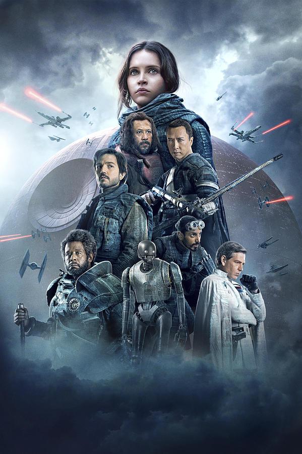 Movie Digital Art - Rogue One- A Star Wars Story by Geek N Rock