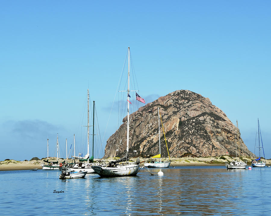 Rouge At The Rock Morro Bay Photograph