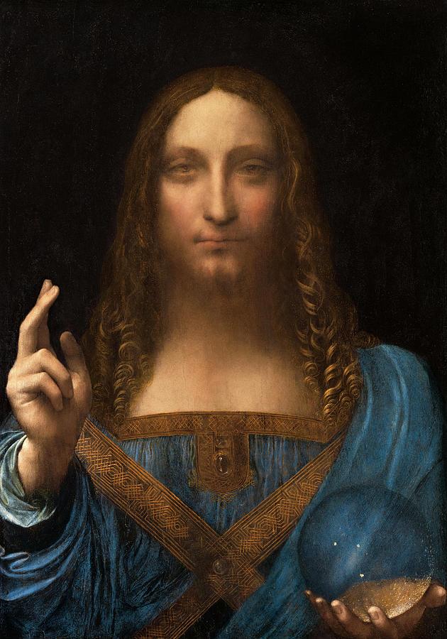 Salvator Mundi Painting - Salvator Mundi by Leonardo da Vinci