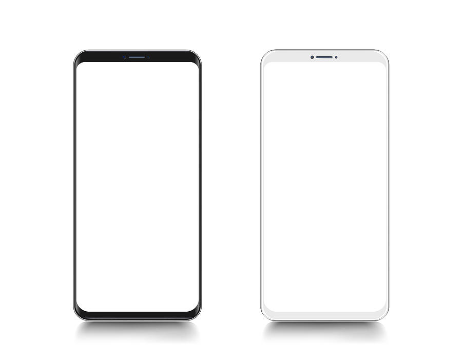 Smartphone. Mobile phone Template. Telephone. Realistic vector illustration of Digital devices Drawing by Mikimad