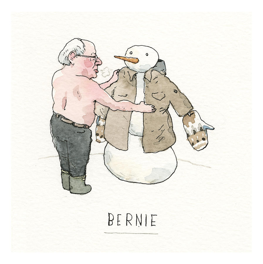 Snow Country for Old Men Painting by Barry Blitt