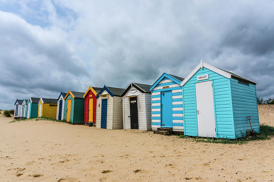 Beach Huts Photograph - Southwold Beach Huts by Paul Cullen