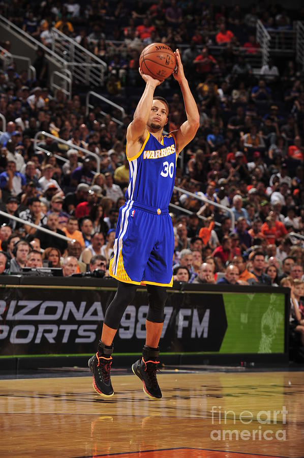 Stephen Curry Photograph by Barry Gossage