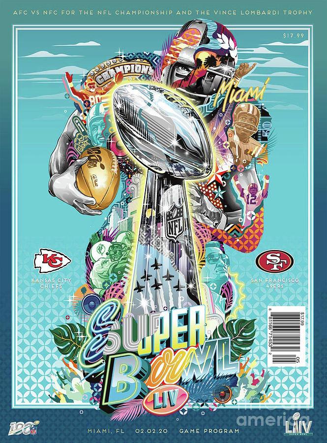 Trends Digital Art - Super Bowl LIV Champions Kansas City Chiefs by Trindira A