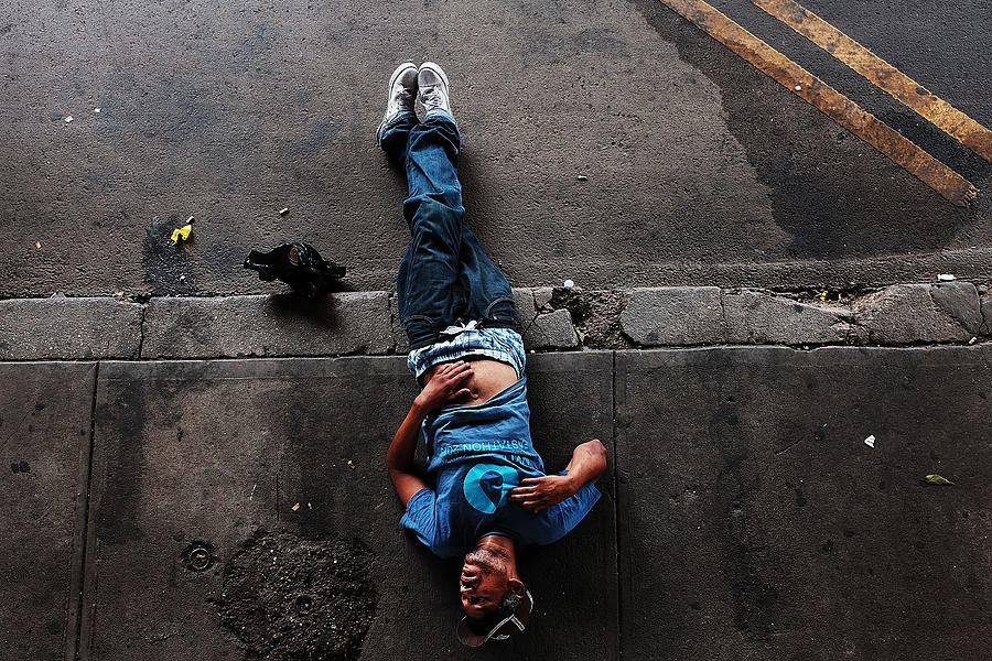 Synthetic Marijuana, Or K2, Use On The Rise In New York City Photograph by Spencer Platt
