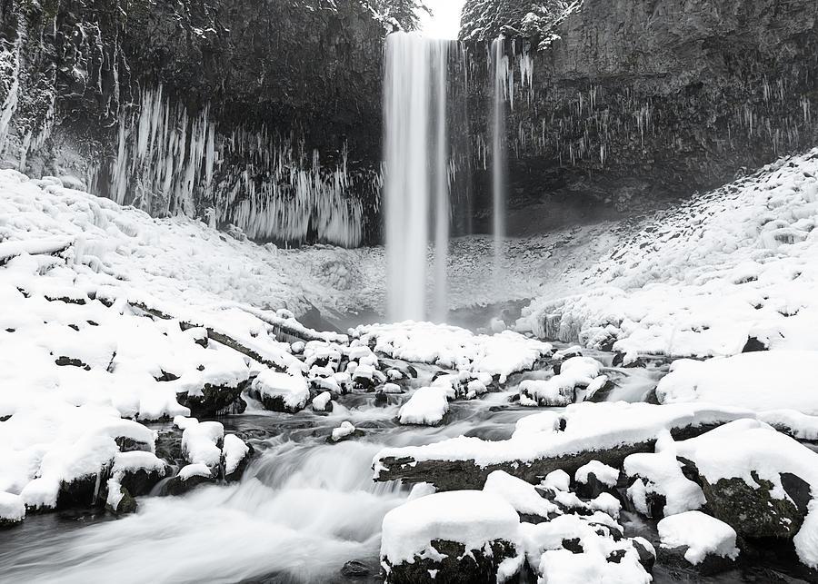 Tamanawas Falls In Winter Photograph