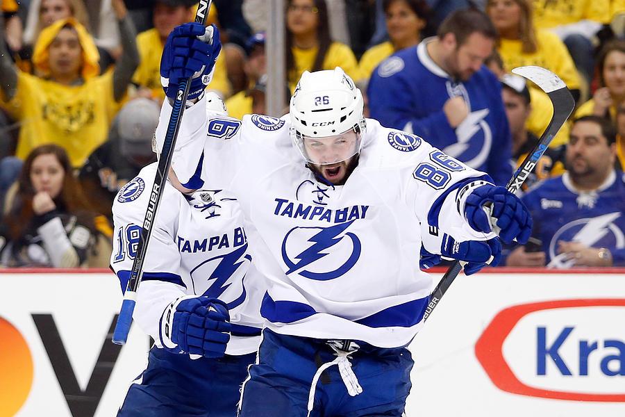 Tampa Bay Lightning v Pittsburgh Penguins - Game Five Photograph by Justin K. Aller