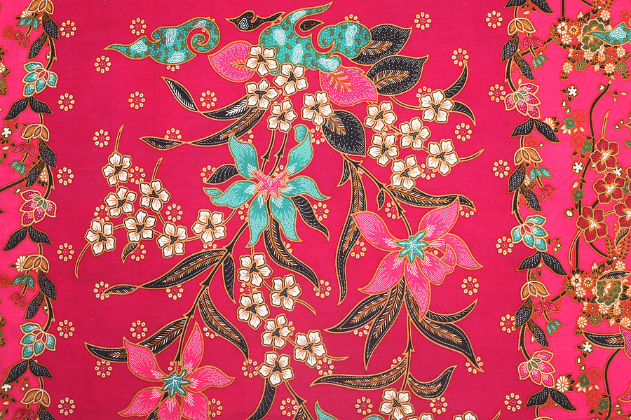 The Beautiful Of Art Malaysian And Indonesian Batik Pattern Photograph