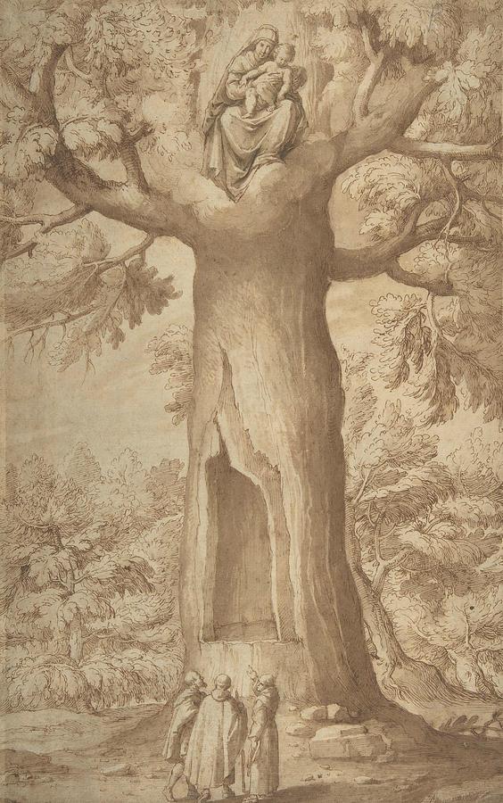 The Beech Tree of the Madonna at La Verna by Jacopo Ligozzi