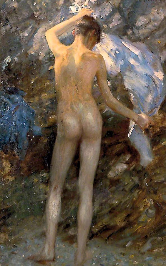 The Blue Jacket  by Henry Scott Tuke