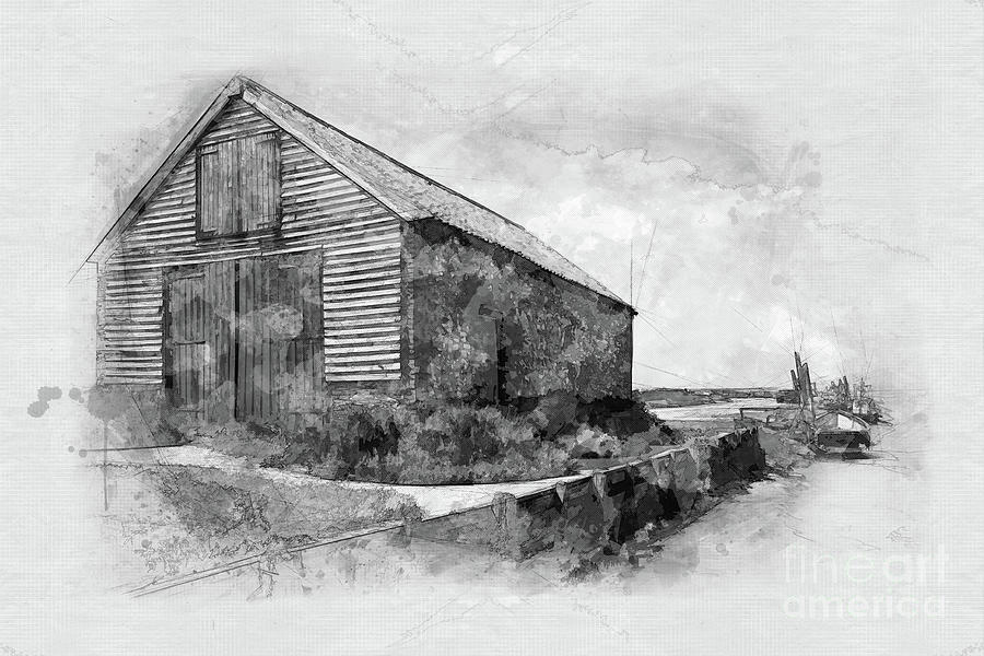 The Coal Barn At Thornham Staithe Painting