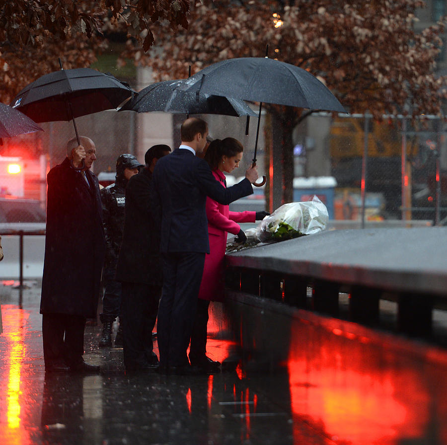 The Duke And Duchess Of Cambridge Visit The National September 11 Memorial Museum Photograph by Pool
