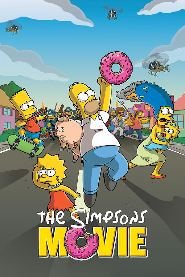 The Simpsons Movie 2007 Digital Art By Geek N Rock