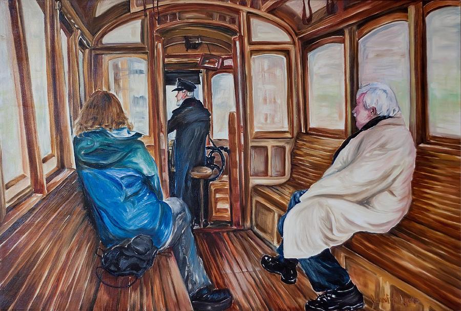 Tram Painting - The Tram by Jennifer Lycke