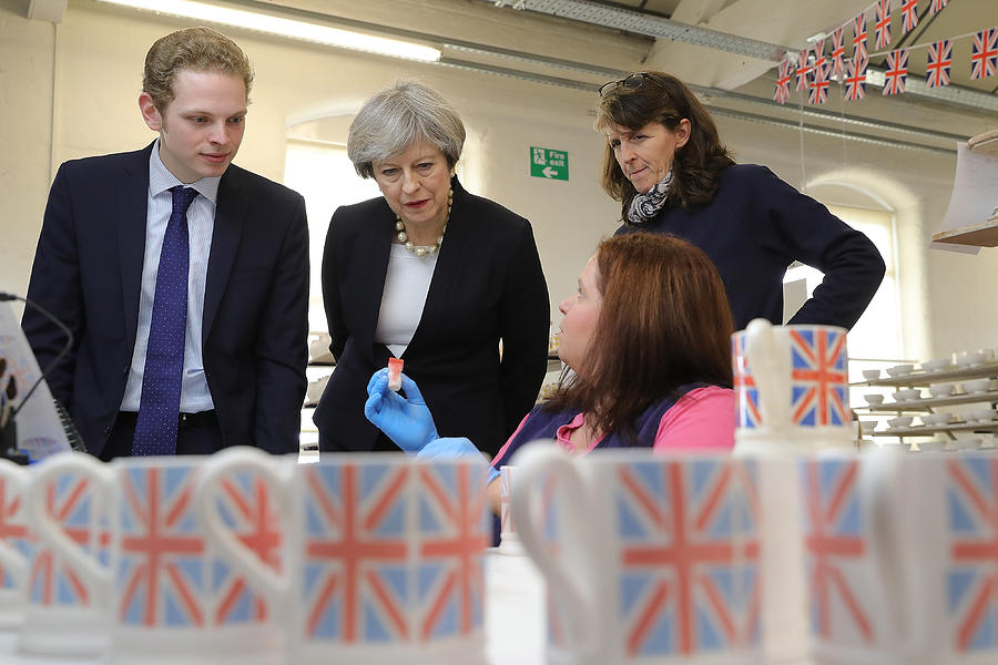 Theresa May Visits Stoke-On-Trent Central Ahead Of Thursdays By-election Photograph by Christopher Furlong