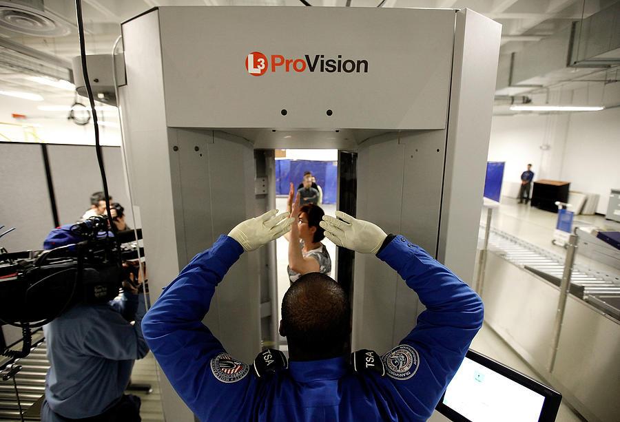 TSA Demonstrates New Imaging Technology At Reagan National Airport Photograph by Chip Somodevilla