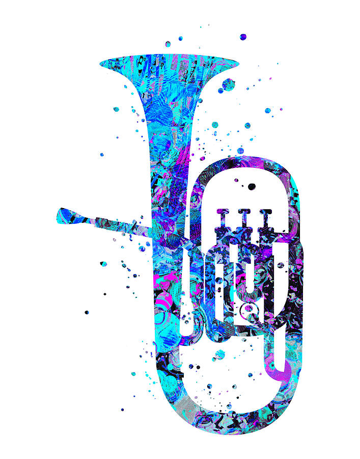 Tuba Painting - Tuba Art by Zuzi s