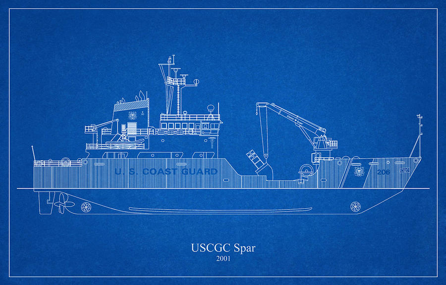 b03 - United States Coast Guard Cutter Spar wlb-206 by JESP Art and Decor