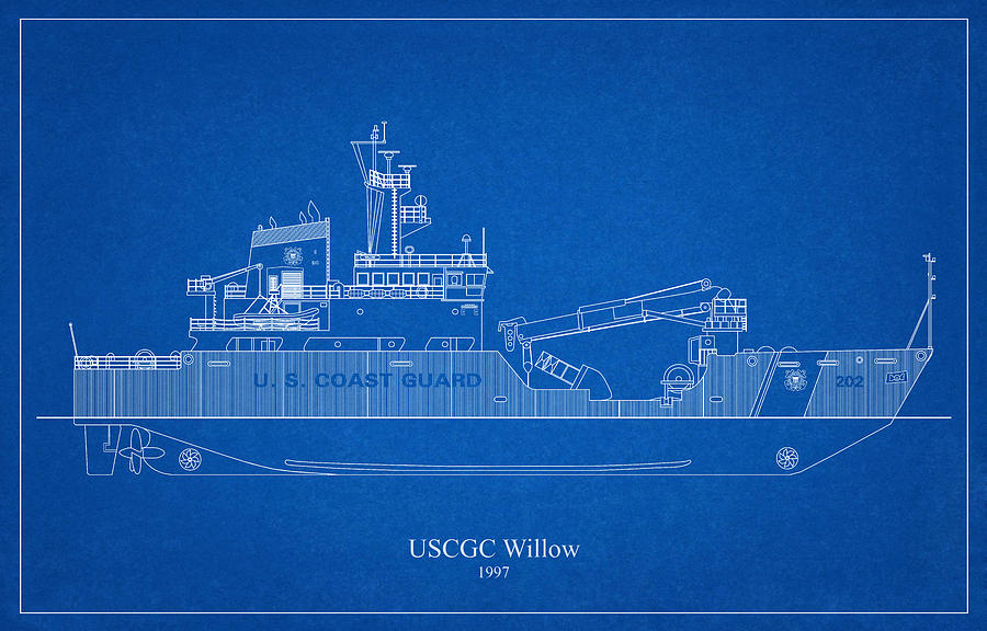 b03 - United States Coast Guard Cutter Willow wlb-202 by JESP Art and Decor