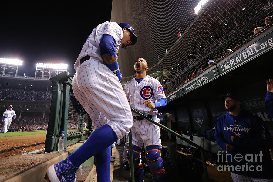 Willson Contreras And Javier Baez Photograph by Alex Trautwig
