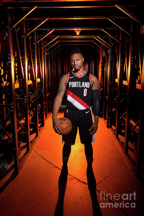 Damian Lillard Photograph by Sam Forencich