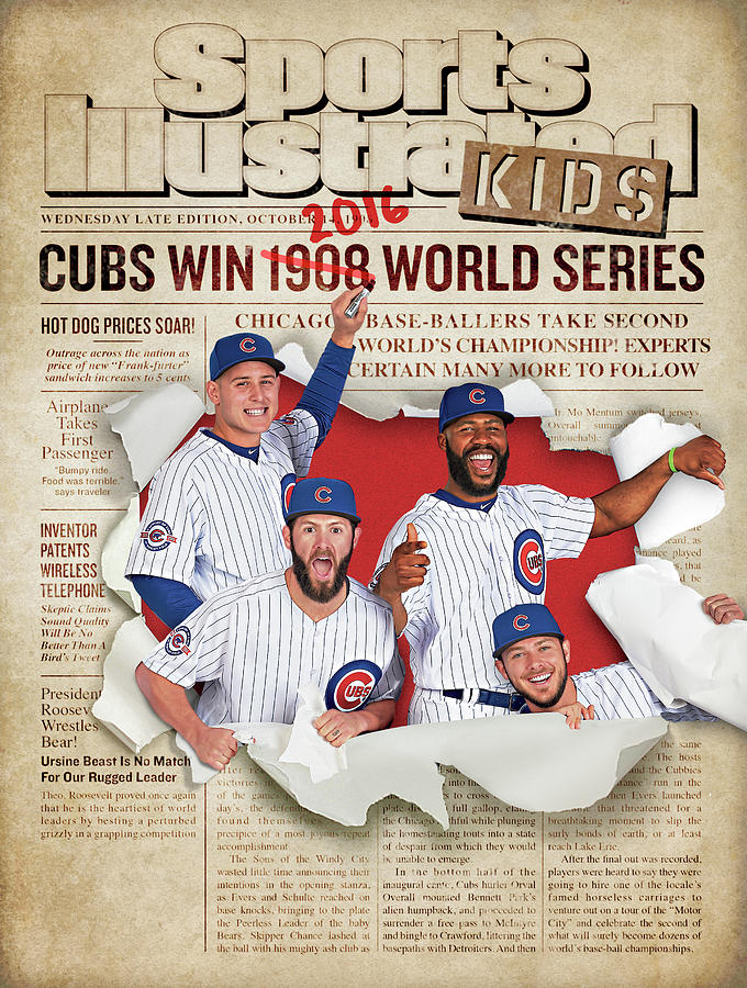 2016 Chicago Cubs Sports Illustrated for Kids World Series Champions Issue Cover Photograph by Sports Illustrated
