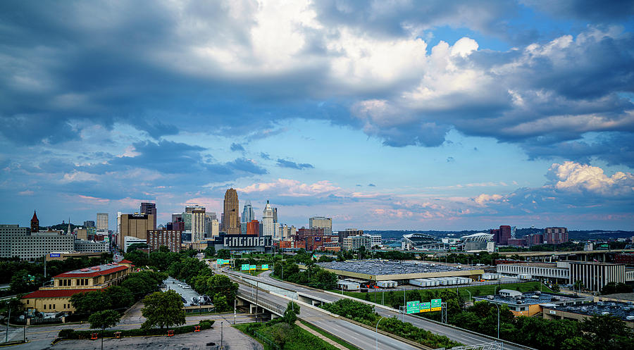 Cincinnati Ohio Daylight Skyline by Dave Morgan