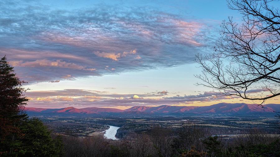 2019 Sunset Blue Ridge by Lara Ellis