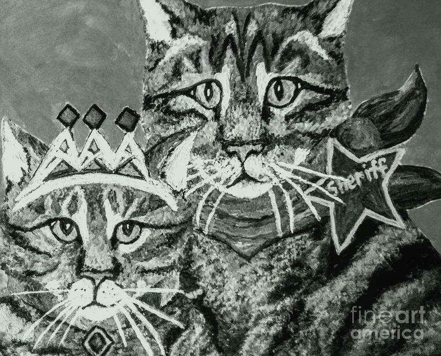 2020 Boringteen Quarantine For Cat Parents Painting