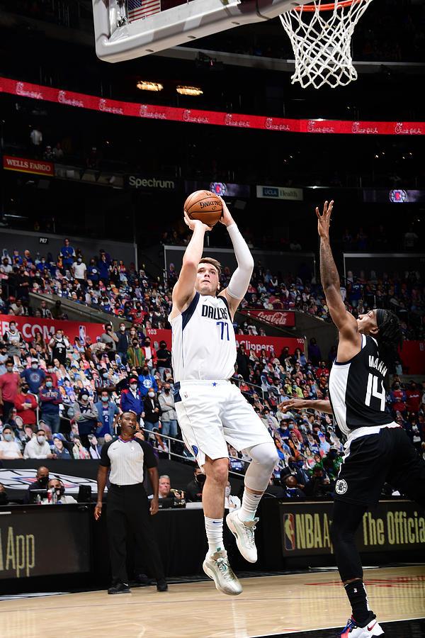 2021 NBA Playoffs - Dallas Mavericks v LA Clippers Photograph by Adam Pantozzi