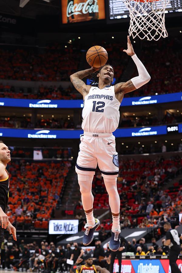 2021 NBA Playoffs - Memphis Grizzlies v Utah Jazz Photograph by Joe Murphy