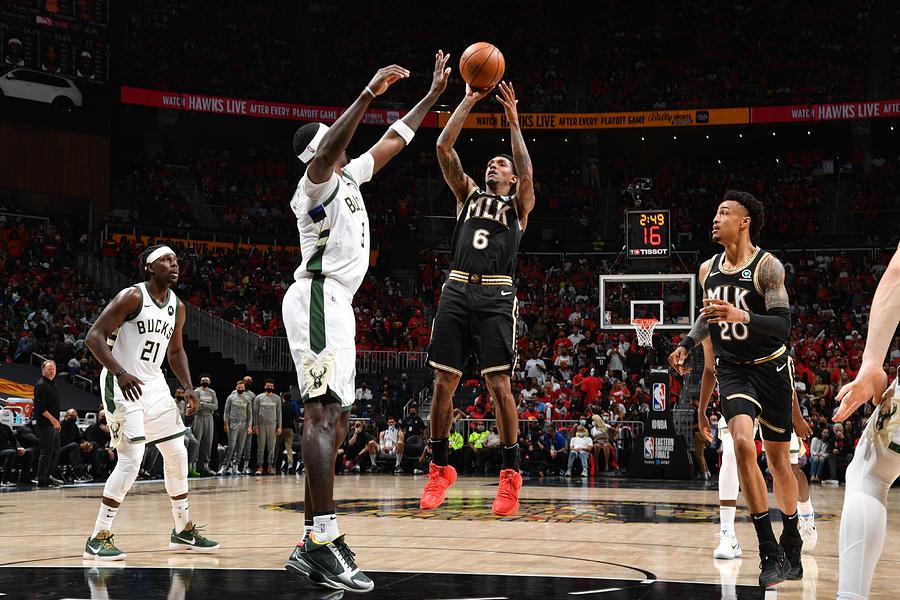 2021 NBA Playoffs - Milwaukee Bucks v Atlanta Hawks Photograph by Jesse D. Garrabrant